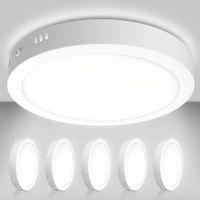 Downlights, liderado Lâmpada de luz do teto do painel de montagem LED, 24 W AC85-265V Lâmpada de superfície redonda plana montada para downlight para closet / corredor / escadas / cozinha / em casa