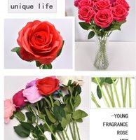 Красивые искусственные PU розовые цветы букеты украшения для свадьбы день рождения день Святого Валентина дома декоративные цветы много цветов FY2425