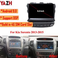"""سيارة دي في دي أندرويد 9.0 لاعب متعدد الوسائط راديو السيارات ل KIA SORENTO 2013 2014 2015 مع 9.0 """"IPS GPS 4GB 64GB DSP 4G بطاقة SIM SWC"""