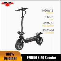 EU stock pluo x20 двойной диск 2000w внедорожник умный электрический скутер 48V двойной двигатель kickscooter с ЖК-дисплеем скейтборд 15ah 20Ah 25Ah