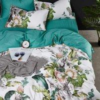 Lusso 600tc cotone egiziano fiori europei stampa set di biancheria da letto set full queen king size copripiumino piumino federa foglio foglio set # / 1