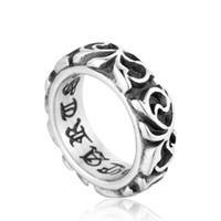 Nieuwe Amerikaanse Europa Finger Rings Sieraden Handgemaakte Designer Roestvrijstalen bandring voor mannen
