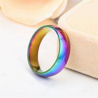الرجال النساء أزياء خواتم مجوهرات ملون المقاوم للصدأ rainbow عشاق حلقة نمط جديد حار بيع 0 9LA J2