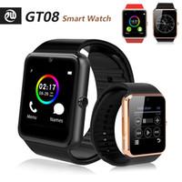 GT08 Bluetooth-Smartuhren mit SIM-Karten-Slot für Android NFC Health X6 x7 T500 T500 + M16 PLUS HW12 HW16 HW22 FK88 Uhrenreihe 5 6 Smartwatch