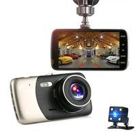 Автомобильный видеорегистратор 4 дюйма Автомобильная камера Двойной объектив FHD 1080P Dash Cam Рекордер видео с задним видом на видеокамеру Регистраторы ночного видения DVR