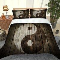 2021 Conjuntos de cama nuevos 3 PCS 3D Impreso Tai Chi Qulit Cover Funda de almohada de alta calidad Suministros de cama en stock