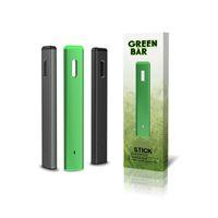 Barra verde autêntica Dispositivo de caneta de vape descartável Dispositivo vazio de Óleo espesso Kit de iniciantes por ovns Tipo C Botão de carregamento