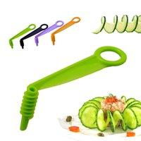 1 unids Vegetal Fruit Slicer Manual Spiral Tornillo Slicer Patata Cortar Dispositivo Corte Fries Cortador Manual Accesorios de Cocina Herramientas