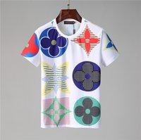 Новый дизайнер футболки мужская одежда бренд Tops Tee рубашка мода летние приливы расставленные буквы печатные роскоши мужчины рубашка одежда M-3XL H56