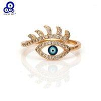 Lucky Eye Evil Eye Золотые кольца Медные Микро Протяженные Кубические Циркон Кольцо Ювелирные Изделия Регулируемые Женские Кольца Подарки Ювелирные Изделия EY61861