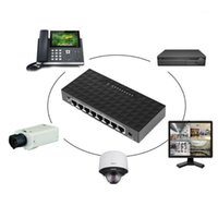 Компьютерные кабели разъемы 8 Порт 10/100 Мбит / с POE Ethernet Сетевой выключатель LAN HUB Смарт-коммутатор Поддержка 6-55 В Power Pize1
