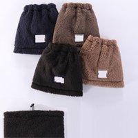 Wram الشتاء القطيفة قبعة وشاح مجموعة قابل للسحب قبعة مصمم وشاح 4 ألوان مصمم قبعة القطيفة القبعات XD24284