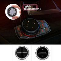 idrive 자동차 멀티미디어 버튼 E46 E39 E60 E90 E36 F30 F10 X5 E35 E34 E30 F20 E92 E60 M5에 대 한 M 엠블럼 스티커