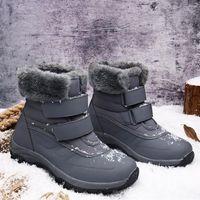 Winter neue baumwollgepolsterte schuhe frauen warme schnee stiefel hight-top wasserdichte rutschfeste große größe outdoor shoes1