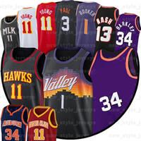 N NCCA Young 1 Devin 3 Chris Booker Paul 34 Charles Nash B Barkley 13 Steve Jersey 11 Trae Bir Erkek Basketbol Formaları