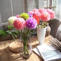 الزهور الزهور أكاليل الكرة البصل الحرير الاصطناعي الكوبية رغوة وهمية زهرة باقة للمنزل حفل زفاف غرفة الديكور هدية