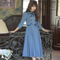 Preppy Style Dress Vestidos Femininos Vintage Peter pan Coll...