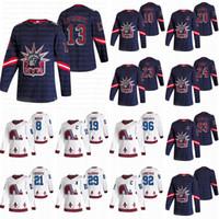 New York Rangers Colorado Avalanche 2021 Jerseys rétro Retro 13 Lafreniere 10 Panarin 24 Kakko 29 Mackinnon 8 Cale Makar Jersey Hockey Jersey