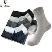 Мужские носки Veridical 10 пары / лоты мужские хлопковые сетки дышащие черные твердые деловые люди работают весна лето для Male1