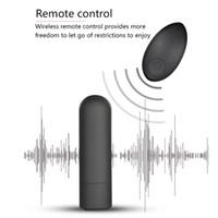 Mini bullet vibrador para adultos 10 velocidade controle remoto sem fio USB carregar brinquedos sexuais para mulheres masturbação clitóris estimulador y201118