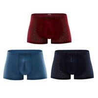 Neue Mode Herren Unterwäsche Box Shorts Modal The Cool Air Männliche Ceuca Unterhose Atmungsaktiv Neue Mesh Man Unterwäsche L-XXL Hohe Qualität 3 stücke