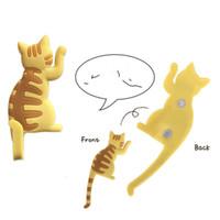 Karikatür Manyetik Buzdolabı Mıknatıs Ev Araçları Sevimli Kedi Şeklinde Hiçbir Trace Yapıştırma Kanca Anahtarları Kanca Yeni 4HB J2