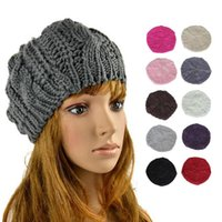 Women Winter Knit Beanies Hat Thermal Thick Soft Knitted Ear Cap Warm Skullcaps For Girls Kids Female Ladies Bonnet 10 Colors