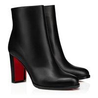 Designer di Lussurys Cate Boot per le donne, signore rosse Bottom Boots Catene Catene Piattaforma Tacco Tacco Legno Smooth in pelle di vitello Ginocchio Alto-alto Stivali Altissimi