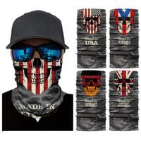 الجمجمة السحر وشاح الأمريكية العلم الوطني باندانا نصف قناع الوجه 25 * 50CM كندا الولايات المتحدة الأمريكية بورتوريكو العلم العصابة العمامة دراجات تزلج قناع CYZ2914