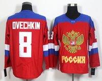 2016 World Cup Ice Hockey Jerseys Rússia Alex Ovechkin Jersey Vermelho 72 Artemi Panarin 13 Pavel Datsyuk 71 Evgeni Malkin 91 Vladimir Tarasenko