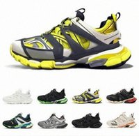 Top Designer Casual Scarpe Triple S Track2 3.0 Grigio Arancione Giallo Uomini Donne Casual Shoes Platform Sports Sneakers Trek Mens Trainer ZFVQ #