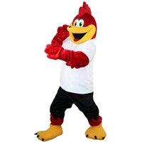 2018 Nova alta qualidade Red Sport Eagle Mascot Trajes para adultos Circo Christmas Halloween Outfit Fancy Dress Fech Frete111