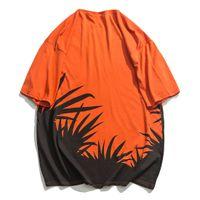 2021 Новая печатная футболка Харагуко Стиль Африка Eden Haraguku Мужская рубашка Неформальная летняя мода экспортировать с коротким рукавом хлопковый хип-хоп UDVM