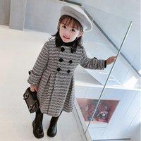 Gooporson Fashion Fall abrigo para Chica Punto Tops Largas Espesado Invierno Little Girls Chaqueta Abrigos Lindos Trajes para niños coreanos 201110