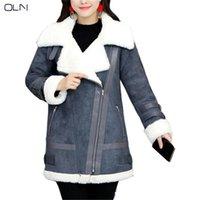 Cuir pour femme Faux Automne Hiver manteau OLN 2021 Coréen en gros de fourrure d'agneau femelle un cerveau de coton épais