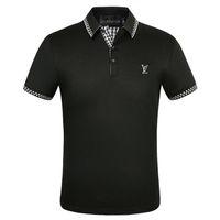 Acquista camicie da uomo casual da uomo, t-shirt a maniche corte in cotone britannico, felpe casual estate, primavera e autunno t-shirt a colori solidi