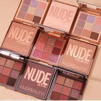 Wholesale HUDA Beauty Eyeshadow Palette 9 Color Neon Eyeshadow Bright Pressed Powder Metal Matte Makeup Eye Shadow