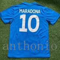 Tops 1989/90 rétro Naples Soccer Jerseys Maradona 10 Insigne Camisetas de futbol Kits personnalisés 1991/1993 Napoli futbol Jersey Thailand Quality Shirt de football de 1992