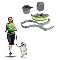 الحيوانات الأليفة الكلب المقود الأيدي الحرة الجر حزام مقعد قابل للتعديل الجر المقود في الهواء الطلق الرياضة المشي تشغيل حبل FFC4555