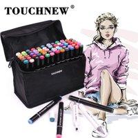 TouchNew Marker Pens 60 colores Diseño de animación gráfica para artistas Sketch Markers 201222