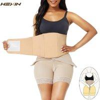 Hexin abdominal placa compressão pós-parto recuperação barriga de barriga Faja pós-lipoaspiração bege cintura treinador