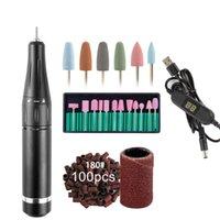 네일 드릴 액세서리 35000RPM 전기 매니큐어 기계 세트 휴대용 펜 비트 커터 젤 광택 폴란드어 연삭 도구