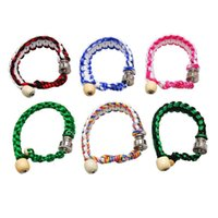 Portable Metal Bead Bracelet Smoking Pipe Wristband Pipes Multi Colors Men Women Cool Gifts Knot Rope Smoking accessories
