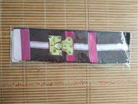 Bolsa de seda clássica saco lenço headbands mulheres letra flor faixas de cabelo superiores 8x120cm sem caixa com tags