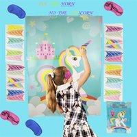 يونيكورن ملصقا الإبداعية المحمولة العديد من الألوان أقارب الأطفال اللعب حزب لصق لعبة عصا الصحف المصنع مباشرة بيع 9GHA P1