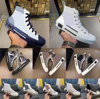 2021 B23 مصمم أحذية رياضية مستفيد جلدية فنية عالية منخفضة الزهور منصة حذاء في الهواء الطلق عارضة أحذية خمر حجم 36-45 V9Q3 #