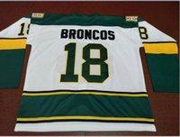 Benutzerdefinierte Männer Jugendfrauenweinlese # 18 Humboldt Broncos Weiße Hockey-Jersey-Größe S-5XL oder benutzerdefinierte ja name oder -nummer