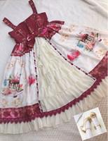 (Kleid + Schuhe) Kostenloser Versand Rot Del0003 Neues süßes Lolita Kleid Schönes Thema Kostüm Niedlichen Cosplay Kleid Vintage Gothic Kleid