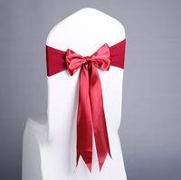 17 Colores SPANDEX SHIRT SASHES Free Lace-Up Silla de silla de silla de silla con arco de seda para el evento Fiesta de la boda Suministros de decoración FFC3456