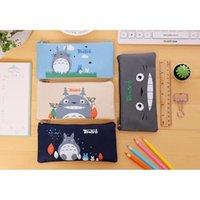 Totoro قلم رصاص طالب الأطفال الكرتون أكياس ميازاكي أكسفورد القماش القرطاسية الاطفال لطيف 19 * 9 سنتيمتر dhl مجانا